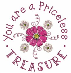 Priceless Treasure embroidery design