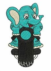Blue Elephant embroidery design