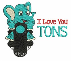 Love You Tons embroidery design
