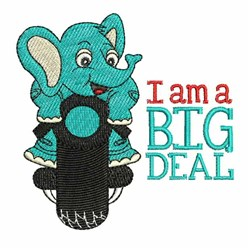 Big Deal embroidery design