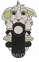 Biker Elephant embroidery design