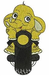 Yellow Elephant embroidery design