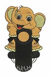 Elephant Biker embroidery design