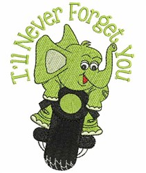 Never Forget You embroidery design