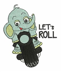 Lets Roll embroidery design