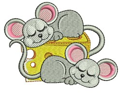 Mice On Cheese embroidery design