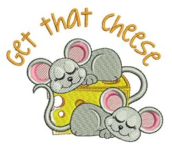 Get That Cheese embroidery design