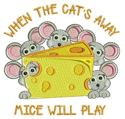 Mice Will Play embroidery design