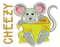 Cheezy Mouse embroidery design