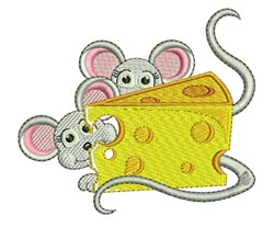 Cheese Mice embroidery design