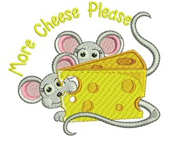 More Cheese Please embroidery design