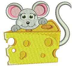 Swiss Cheese Mouse embroidery design