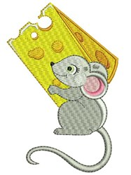 Cheese Mouse embroidery design