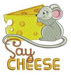 Say Cheese embroidery design