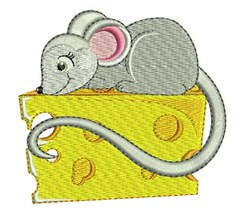 Mouse On Cheese embroidery design