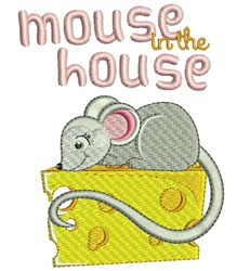 Mouse In House embroidery design