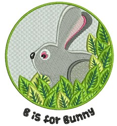 B For Bunny embroidery design