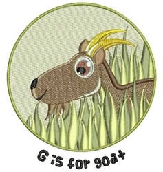 G For Goat embroidery design