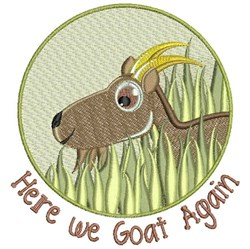 Here We Goat Again embroidery design