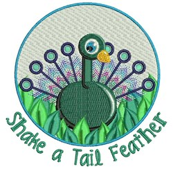 Tail Feather embroidery design