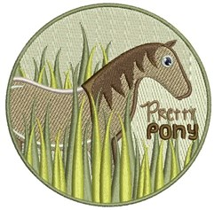 Pretty Pony embroidery design