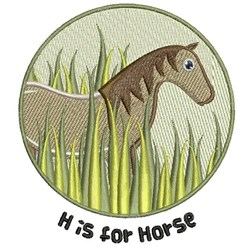 H For Horse embroidery design