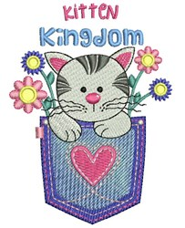 Kitten Kingdom embroidery design