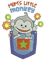 Moms Monkey embroidery design