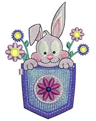 Pocket Rabbit embroidery design