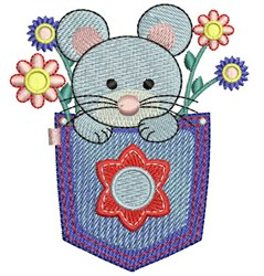 Pocket Mouse embroidery design