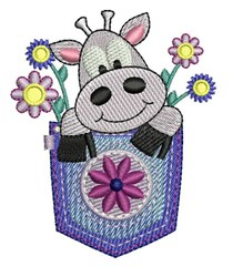Pocket Cow embroidery design