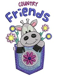 Country Friends embroidery design