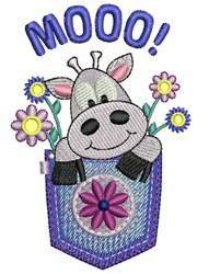 Mooo Cow embroidery design