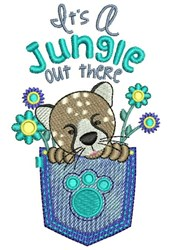 Its A Jungle embroidery design