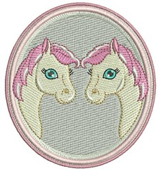 Two Horses embroidery design