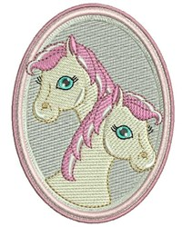Two Ponies embroidery design