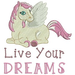 Live Your Dreams embroidery design