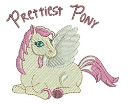 Prettiest Pony embroidery design