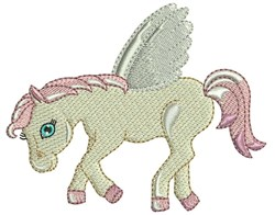 Winged Pegasus embroidery design
