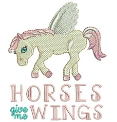 Horses Wings embroidery design