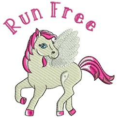 Run Free embroidery design