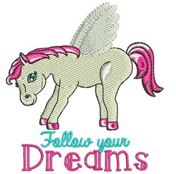 Follow Your Dreams embroidery design