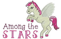 Among The Stars embroidery design