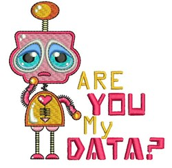 Are You My Data embroidery design