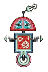 Wheel Robot embroidery design