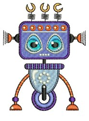 Purple Robot embroidery design