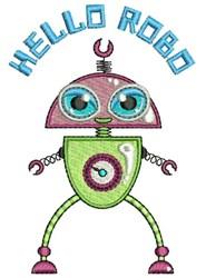 Hello Robo embroidery design