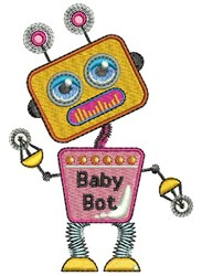 Baby Bot embroidery design