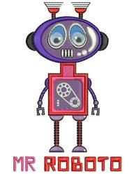 Mr Roboto embroidery design