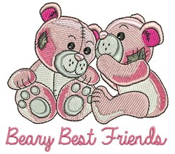 Beary Best Friends embroidery design